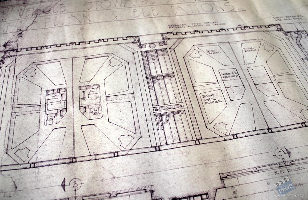 Nostromo stowage area blueprint film production from alien 1979 item details malvernweather Gallery