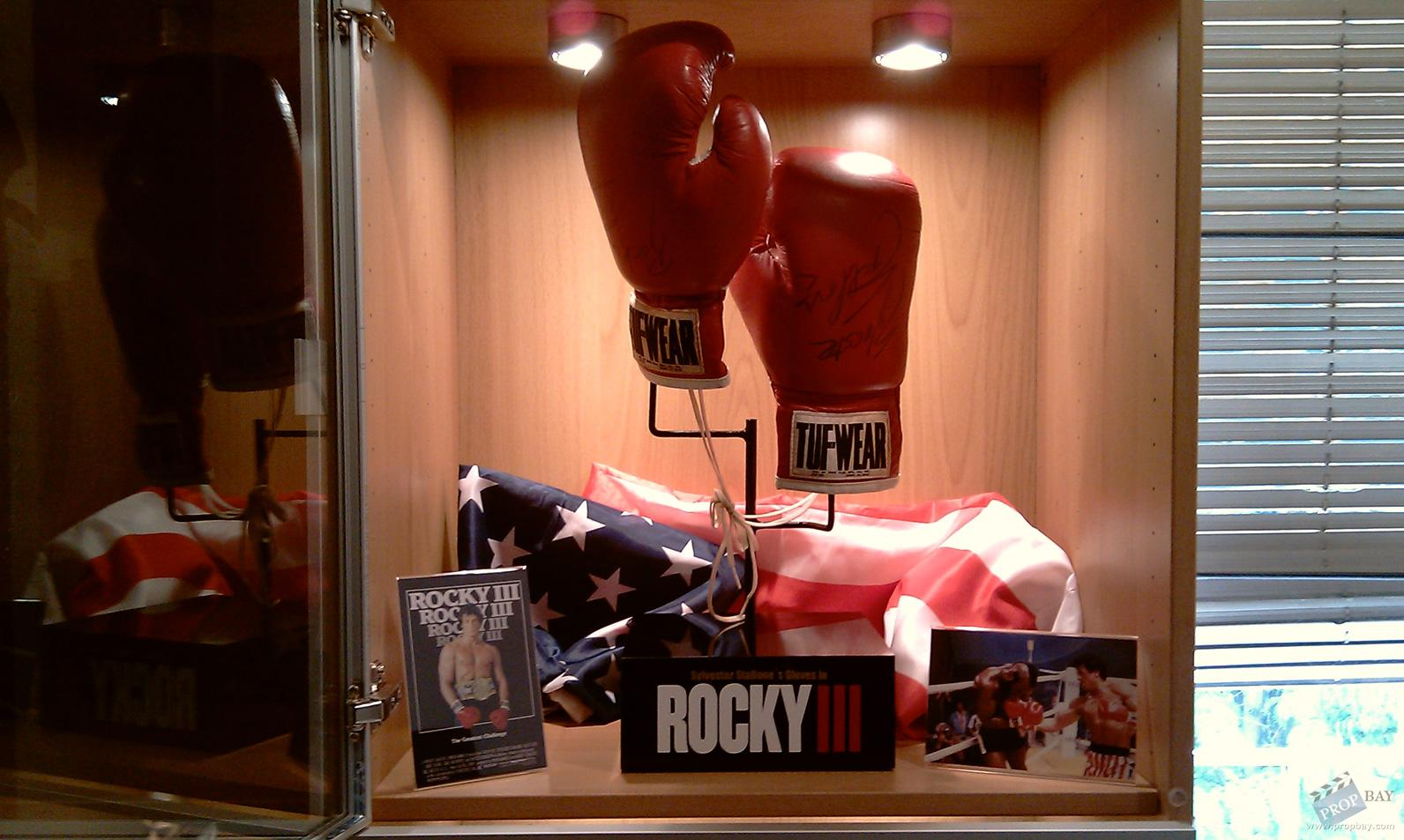 What Is Leather Made Of >> Rocky Balboa's (Sylvester Stallone) Signed Boxing Gloves ...
