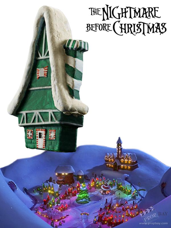 Nightmare Before Christmas Houses.Christmas Town House Movie Prop From The Nightmare Before