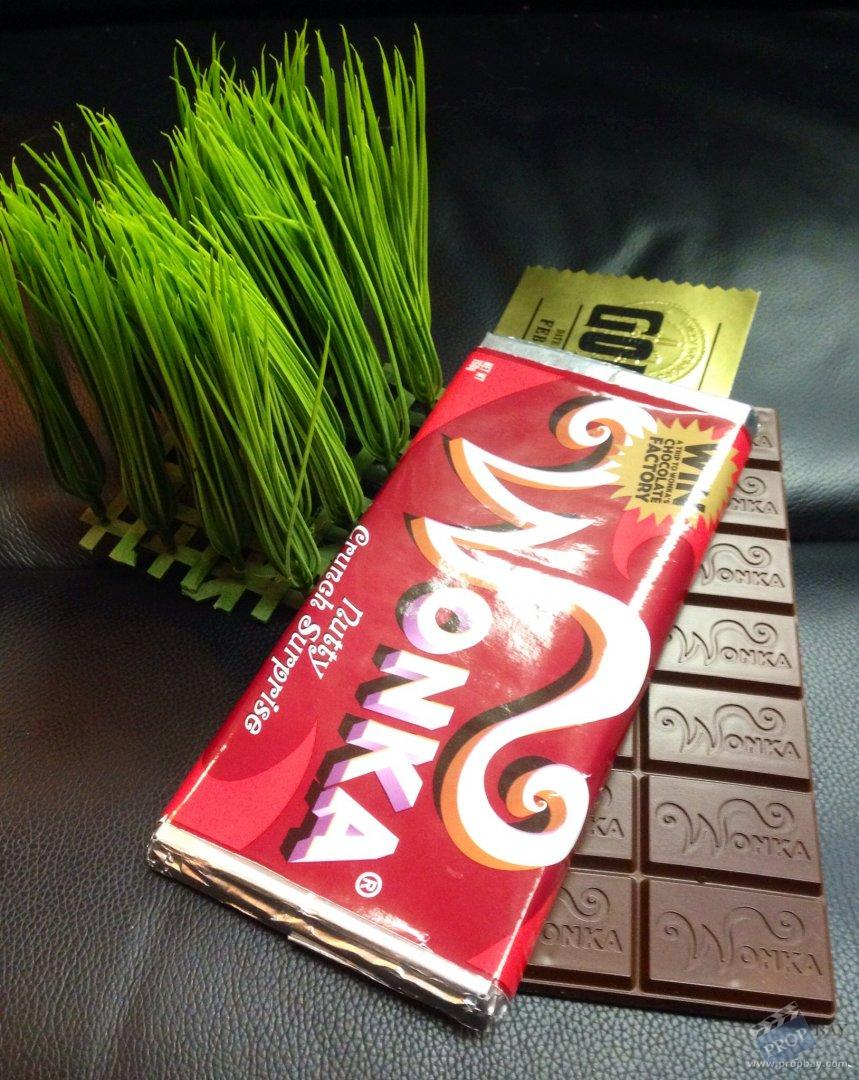 Wonka bar and golden ticket Movie Prop from Charlie and ...