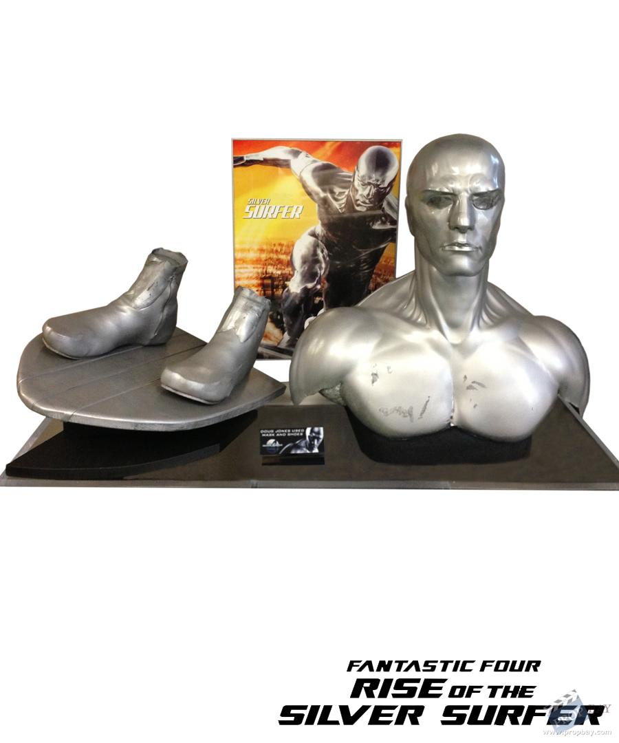 SIlver Surfer Cowl And Shoes Movie Prop from Fantastic 4