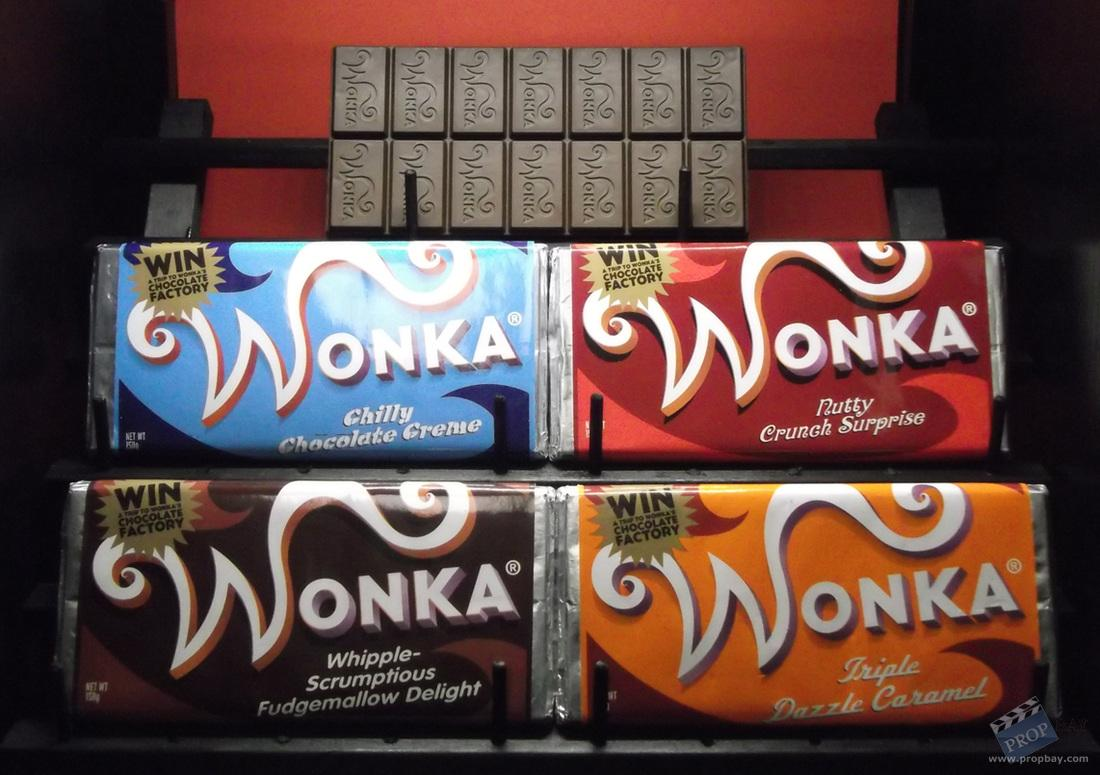 Set of Wonka bars Movie Prop from Charlie and the Chocolate ...