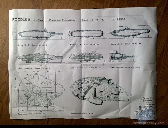 Millenium falcon blueprint film production from star wars episode item details malvernweather Image collections