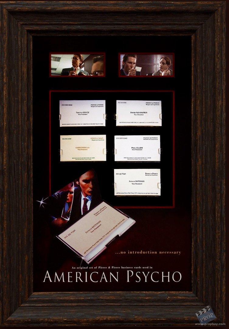 Set of prop pierce pierce business cards movie prop from item details colourmoves