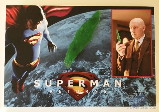 Original Kryptonite Crystal Shard Movie Prop from Superman