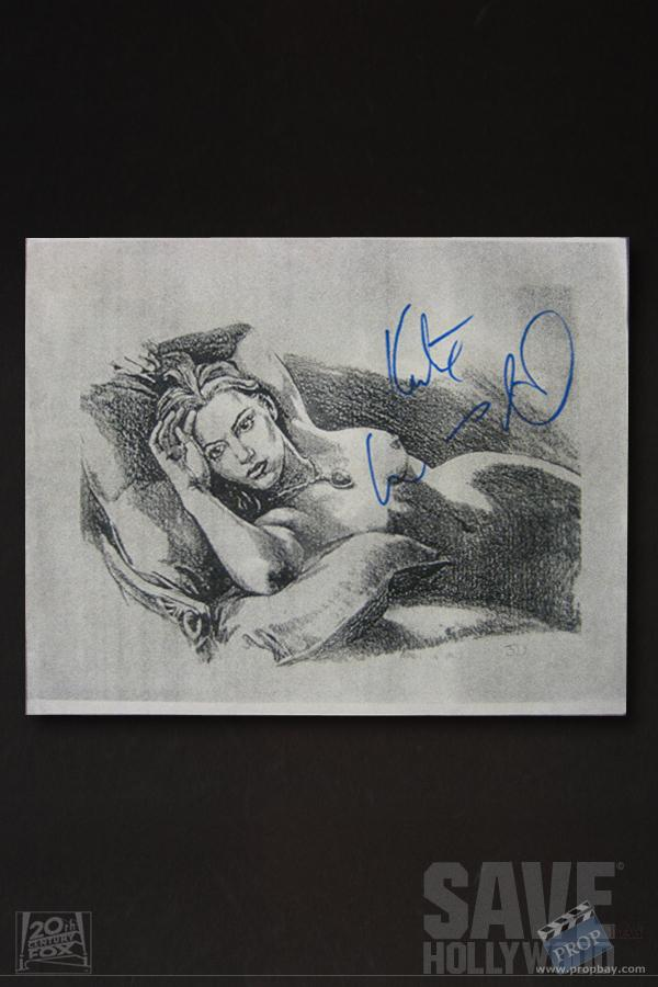 Signed Kate Winslet Sketch Film Production From Titanic 1997