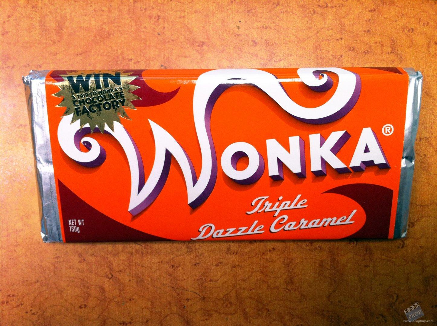 Wonka's 'Triple Dazzle Caramel' Hero Chocolate Bar Movie ...