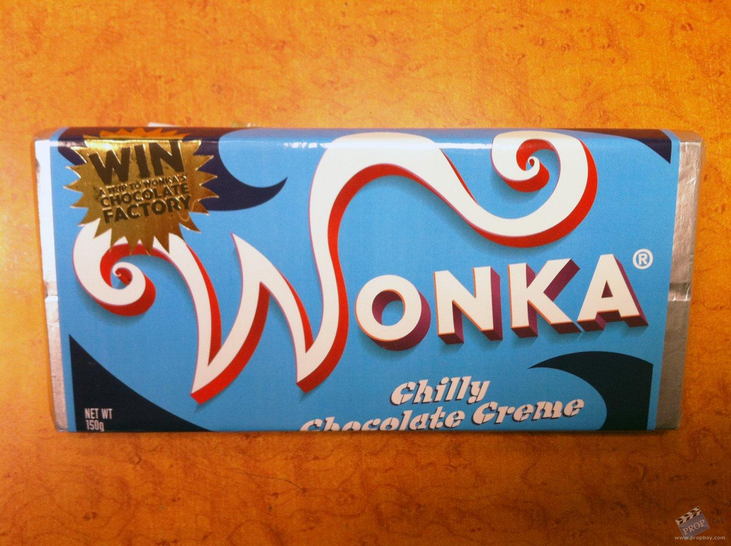 Wonka's 'Chilly Chocolate Creme' Hero Chocolate Bar Movie Prop ...
