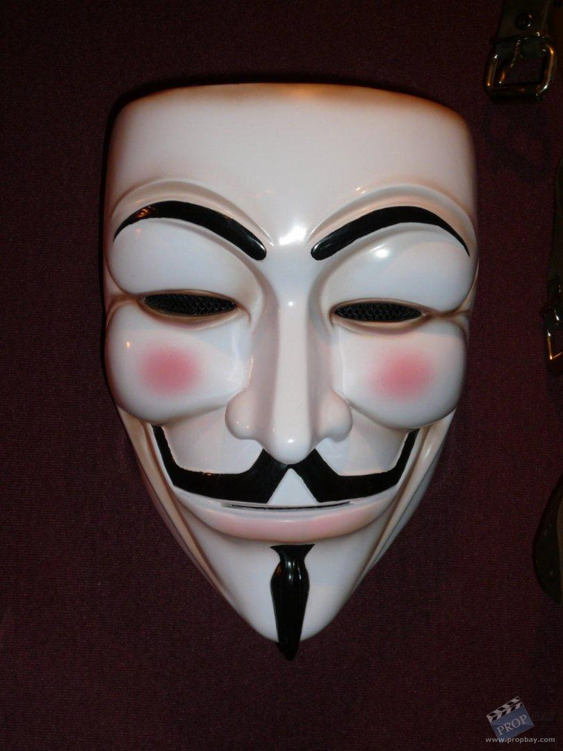 Guy Fawkes Hero mask Movie Prop from V for Vendetta (2005 ...