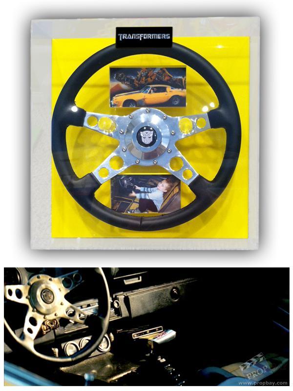 Bumblebee 76 Camaro Steering Wheel Movie Prop From