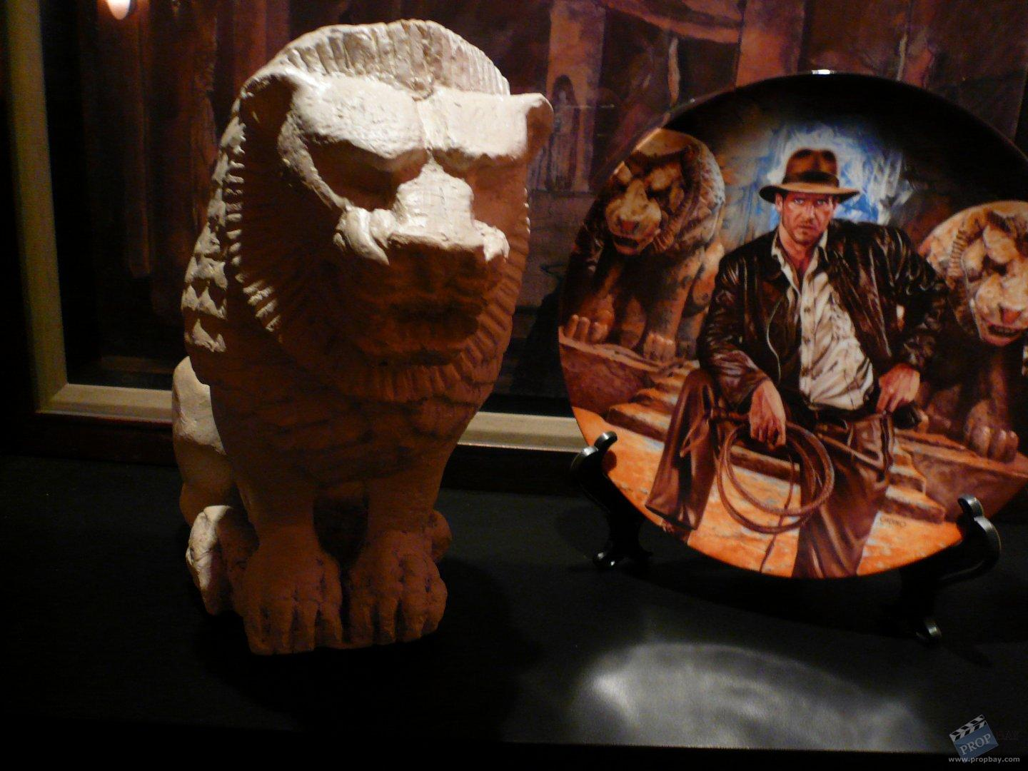 Prop plaster lion from Indiana Jones and the Last Crusade