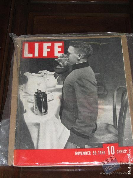 production obtained life magazine movie prop from indiana