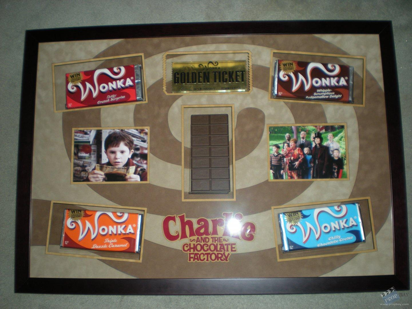 Screenused golden ticket +chocolate bars Movie Prop from ...