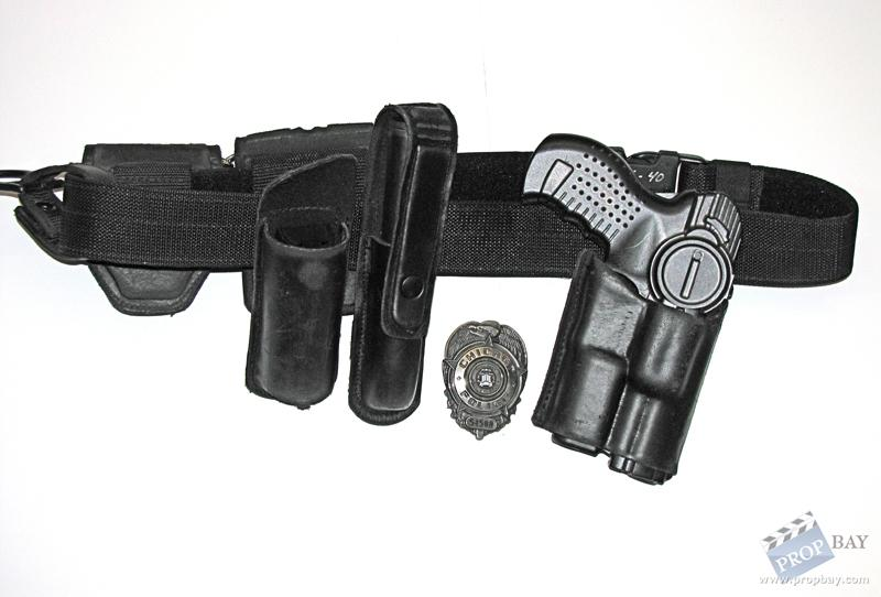 Police Gunbelt With Holster Pouches And More Movie Prop