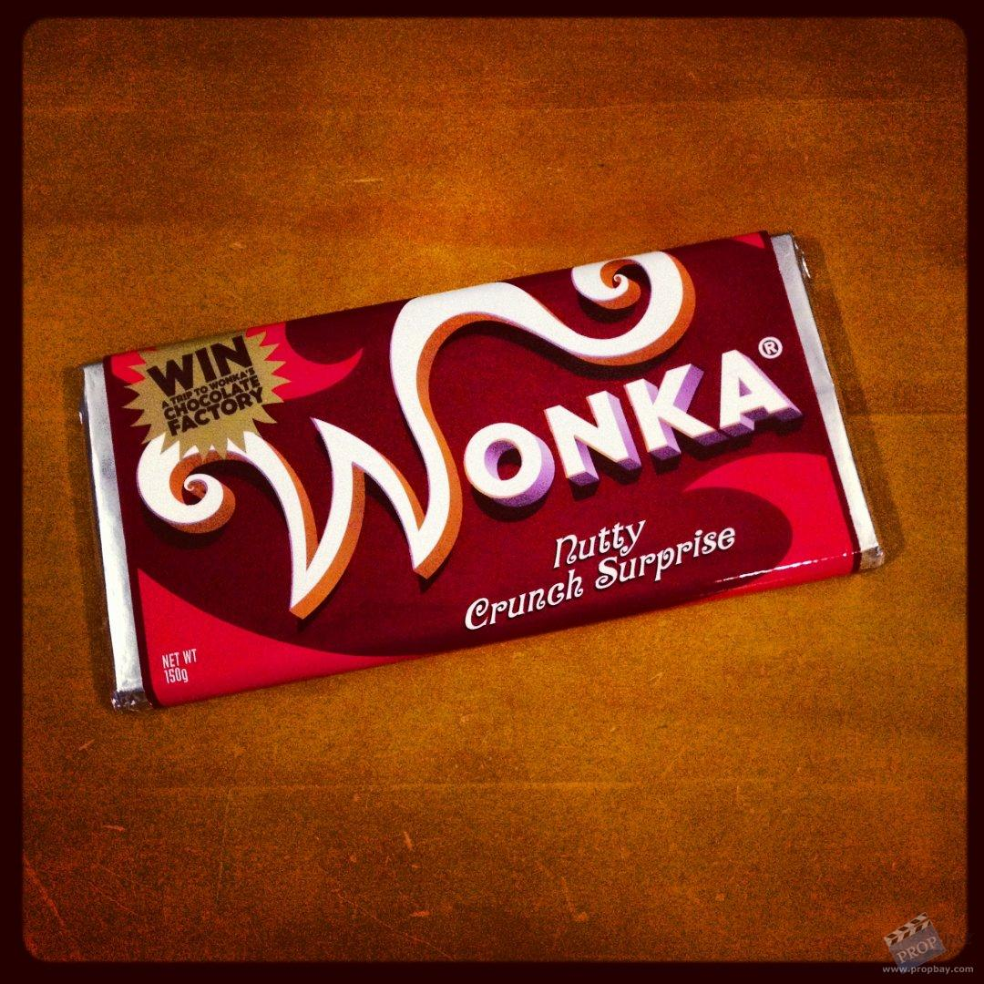 Wonka Nutty Crunch Surprise Chocolate Bar Movie Prop from Charlie ...