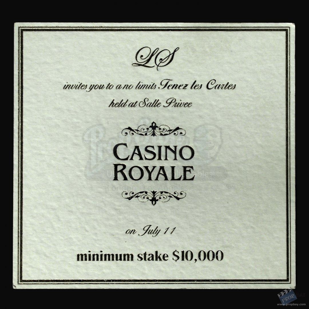 Poker Invitation For James Bond Movie Prop From James Bond Casino