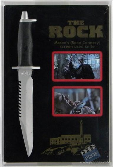 John Mason S Sean Connery Stunt Knife Movie Prop From The Rock 1996 Online Movie Memorabilia Archive And Marketplace Propbay Com